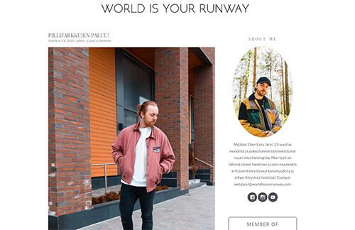 World is your runway - Miesten muoti- ja lifestyleblogi
