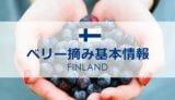 フィンランドでのベリー摘みに関する基本情報