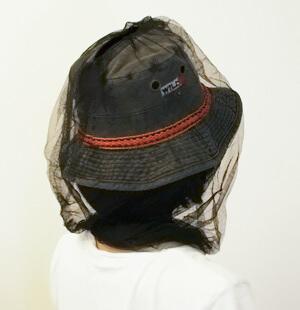 蚊よけの帽子