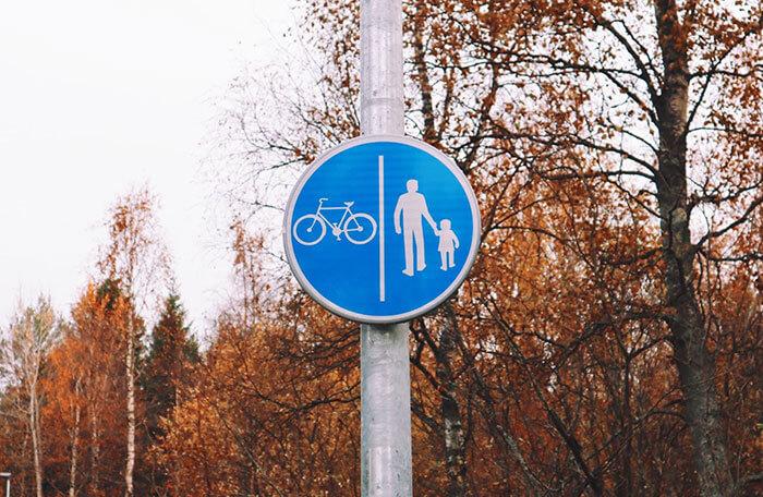 自転車は右側通行